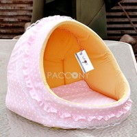 WISON - Cute Comfortable Pet Beds with Sweet Dots