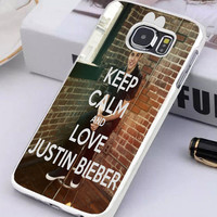 Keep Calm And Love Justin Bieber Samsung Galaxy S6 Edge Gustinawaty.com