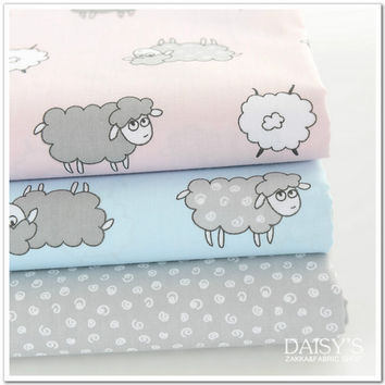 100*160cm printed baby cotton quilting Fabric by meter DIY Sewing Quilt Scrapbooking Tissue Needlework Material Curtain Cloth