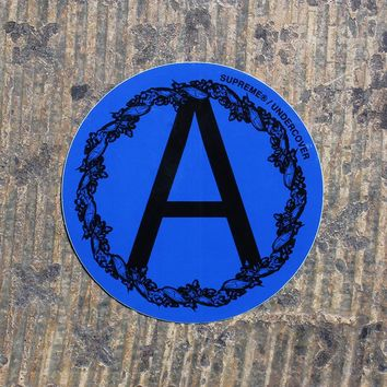 Undercover Anarchy Sticker Blue