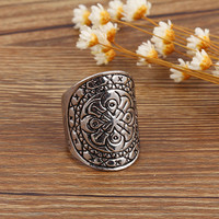 Punk Ring Set Boho Ring Set Antique Tibetan Silver Turkish Knuckle Joint Vintage Rings for Women Jewelry