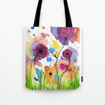 Flower Doodle 4 Tote Bag by Teeka's Treasures