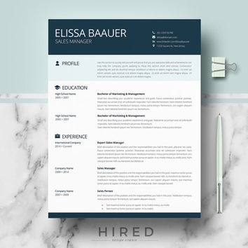 Modern Resume Templates | Professional Biodata format for Ms Word | Resume + Cover Letter + References + Writing guide | CV Instant Download
