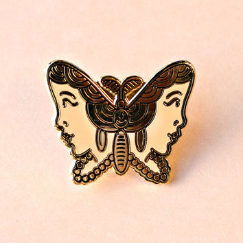 Gypsy Moth Enamel Pin