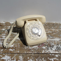 Vintage Rotary Phone Automatic Electric Phone Taupe Telephone