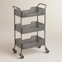 Zinc Yvette Metal Circle Cart - World Market