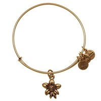 Alex and Ani Apple Blossom Charm Bangle Bracelet - Rafaelian Gold F...