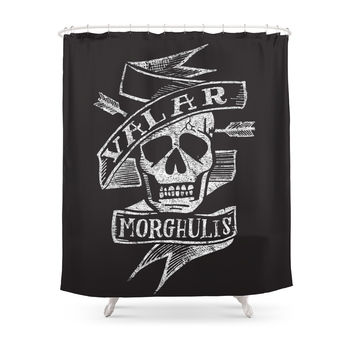 Society6 All Men Must Die Shower Curtains