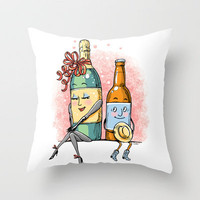 Bottled Romance Throw Pillow by Laurie A. Conley | Society6