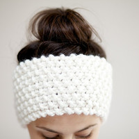 Chunky Knit Headband - Ear warmers in Vanilla Cream - Other Colour Options Available