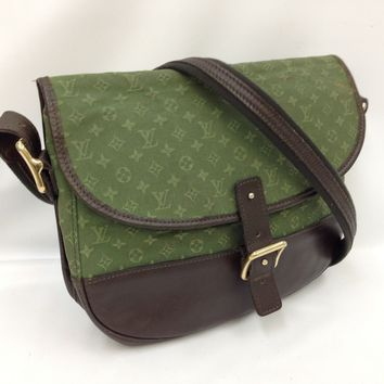 Auth LOUIS VUITTON Monogram Mini Canvas Marjorie Shoulder Bag Green 8a190110#