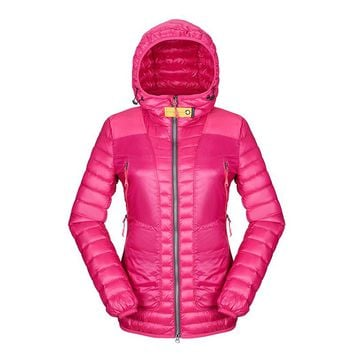 Fashion Soild Colors Windbreaker White Duck Down Jacket Puffer 90% Winter Ultra Light Down Coat Women Outdoors Manteau Femme