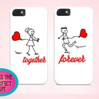 Anniversary gift, Couple cases for iphone, set of cases for couples, iphone cases, iphone 5s cases, iphone 6 cases, love iphone cases