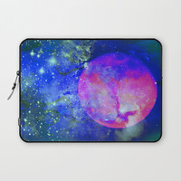 The Pink Moon Laptop Sleeve by minx267