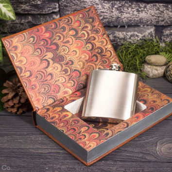 Hollow Book Safe & Hip Flask - Adventures of Huckleberry Finn (LEATHER BOUND)