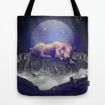 Under the Stars III (Leo) Tote Bag by Soaring Anchor Designs