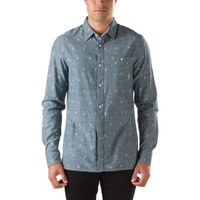 Vans Lacerta Buttondown Shirt (Indigo Dobby Dot)