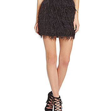 Sugarlips Belle Feathered Skirt - Black