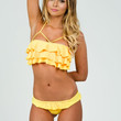 Meg Liz Ipanema Bikini | One of a Kind Yellow Ruffle Bikini