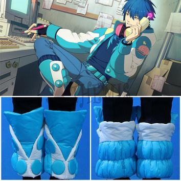 Athemis Dramatical Murder Seragaki Aoba shoe covers handcrafted hand-made winter costume parts and anime cosplay accessories