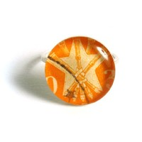 Supermarket: Yugoslavian Postage Stamp Ring - Size 5 from Foxglove Accessories