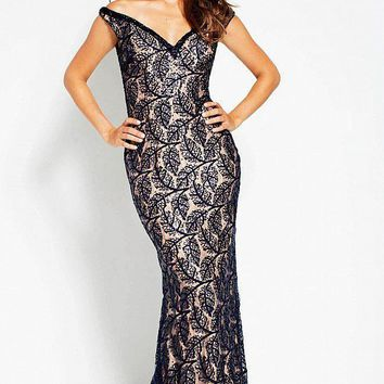 Jovani - 55003 Sequin Embellished Fitted Evening Dress