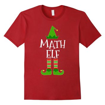 Math Elf - Funny School Teacher Christmas T Shirt