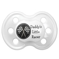 Babies Checkered Flag Racing Daddys Little Racer BooginHead Pacifier