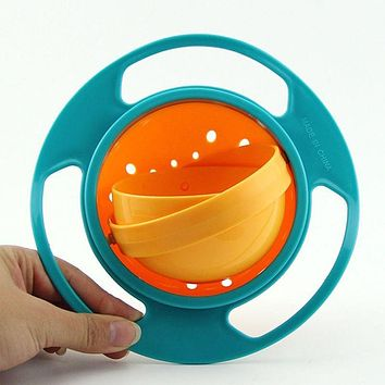 Hot sales Children Tableware Non Spill Bowl Toy Dishes Universal 360 Rotate Avoid Food Spilling Food Snacks Bowl