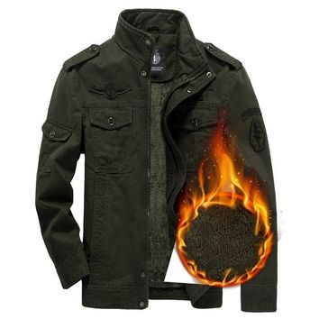 New Men's Hunting Coats Military Jacket Jean Man Jackets Winter Autumn Zipper Army Clothes Air Force Bomber Costume