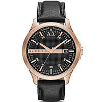 AX Armani Exchange Men's Leather Strap Watch