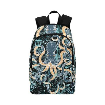 Octopus And Anchors Fabric Backpack