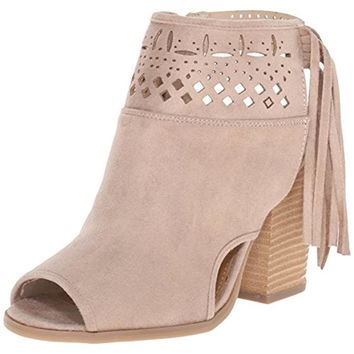 Not Rated Womens Chiara Faux Suede Perforated Ankle Boots