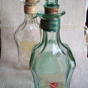 vintage kentucky bourbon whiskey decanters by cloistercreations