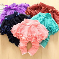 Children Clothes Baby Girl's Pants Kids Baby Girl's Culottes Baby Lace Net Yarn Leggings The New Girls Culottes High quality.
