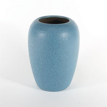 vintage german blue ceramic vase, Scheurich Germany 1980's