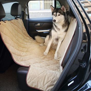 Luxury Car Boot Pet Seat Covers Waterproof Short Plush Quilted Car Interior Travel Accessories Car Seat Covers Mat for Pets Dogs