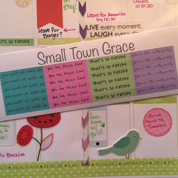Planner Mean Girls Stickers- great for ALL planners- Erin Condren, Emily Ley, Filofax, Plum Paper, Kikki K, etc tiny quotes