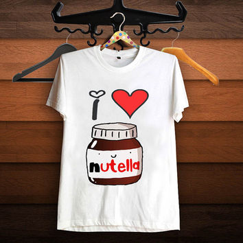 I Heart Nutella T Shirt, Women T Shirt