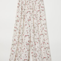 Patterned Pants - Cream/floral - Ladies | H&M US