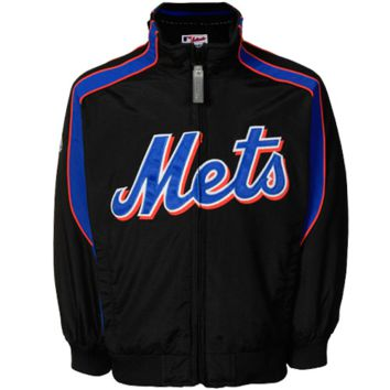 Majestic New York Mets Toddler Authentic Elevation Full Zip Jacket - Black - http://www.shareasale.com/m-pr.cfm?merchantID=7124&userID=1042934&productID=555886175 / New York Mets