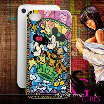 Disney, Mickey Mouse for iPhone 4/4S, 5/5S, 5C and Samsung Galaxy S3, S4 - Rubber and Plastic Case