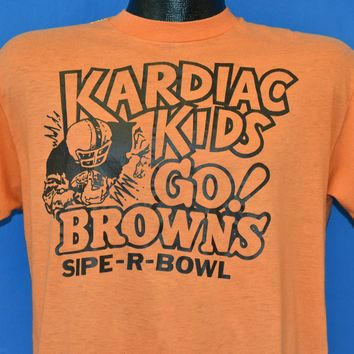 80s Cleveland Browns Kardiac Kids 1980 t-shirt Large