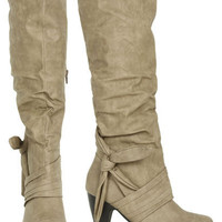 Tall Knot Heet Boot - Teen Clothing by Wet Seal