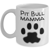 Pit Bull Mamma Mug For Christmas 2016 - Holiday Season Greetings Pitbull Cup for Dog Lovers