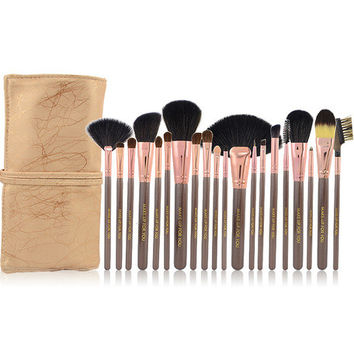 Brown Make Up Brush Set of 20