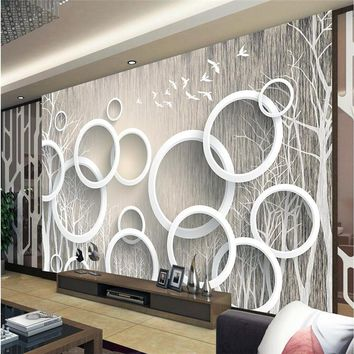 beibehang papel de parede Custom photo Wallpaper 3D Mural Wall paper Stickers Art Abstract Woods 3D Living Room TV Walls