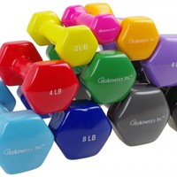 Isokinetics Inc. Brand Vinyl Coated Dumbbell - Sold Individually - 10 Weight Sizes Available: Physical Therapy Equipment and Supplies - Isokinetics Inc.