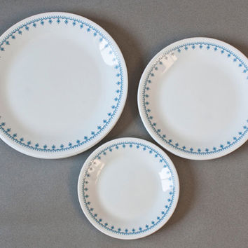 Corelle Livingware Dishes 12 Piece Blue Snowflake Dinnerware Set 4 Place Setting Dinner Plate & Best Corelle Plates Products on Wanelo