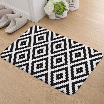 Autumn Fall welcome door mat doormat Geometric Pattern Entrance Mats Anti-slip Mats In The Corridor s Indoor Bedroom Kitchen Rugs Absorbent Bathroom Carpets AT_76_7